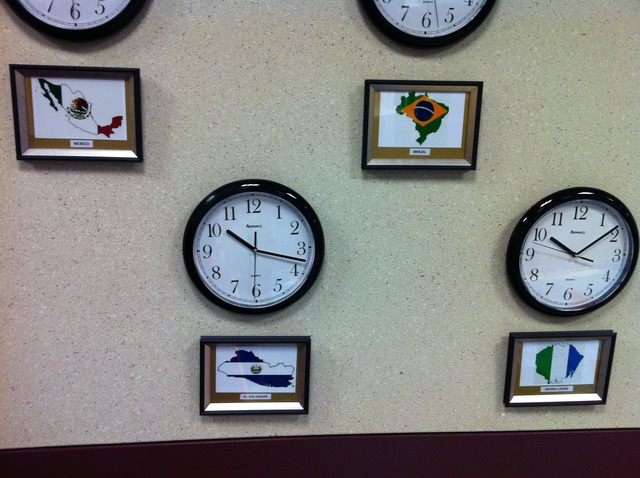 Place flags and clocks!