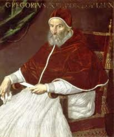 Pope Gregory creates the Latin church
