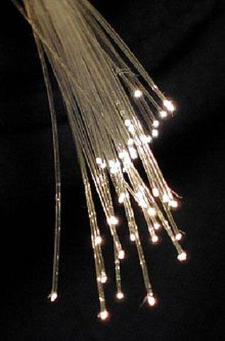 Los cables de fibra óptica.