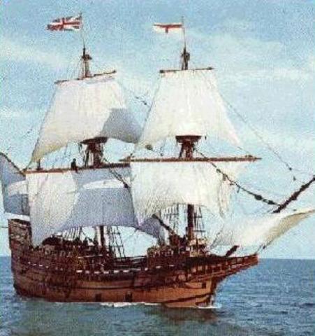Calvinists arrive in America on Mayflower