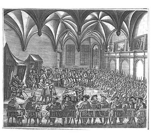 Peace of Augsburg causes rapid spread