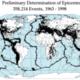 Quake epicenters 1963 98