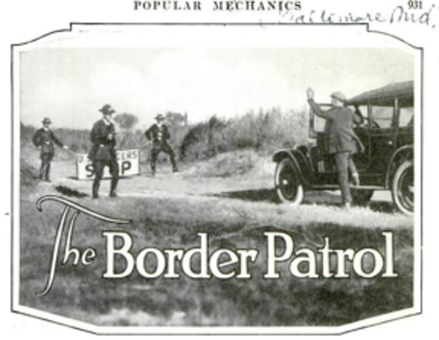 Labor Appropriation Act/Border Patrol created
