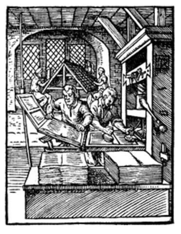 1450 Gutenberg Invents the Printing Press