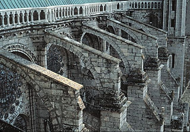The chapels in the apse and most of the piers and buttresses finished on the cathedral.**