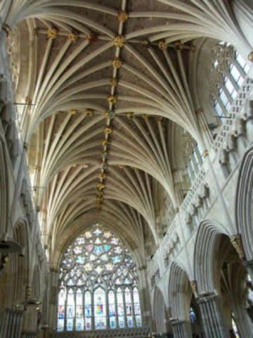 Construction begins on the vaulted ceiling of the cathedral.**