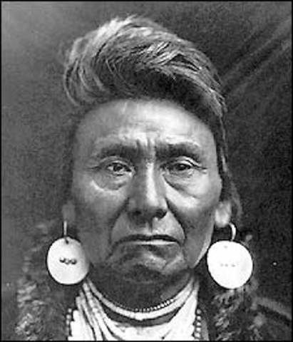 Relocation of the Nez Perce-Chief Joseph Surrenders