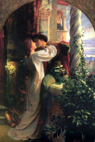 Romoe over hears Juliet on her balcony,  pledging love for him, they agree to get married.