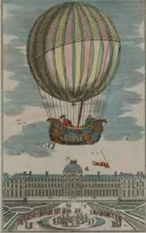 The First hydrogen ascension balloon
