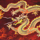 Chinese dragon red