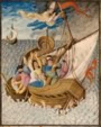 Saint Nicholas Rescues a Ship at Sea