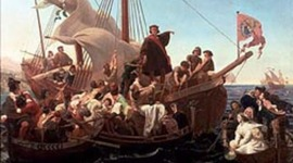 Christopher Columbus discovered America for Spain in 1492. timeline