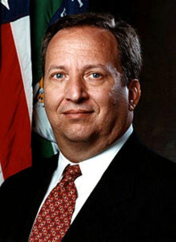 Larry Summers Appoint Deputy Treasury Secretary