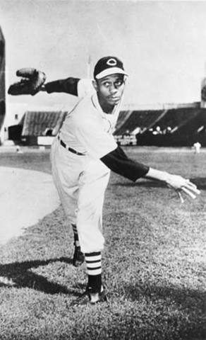 Satchel Paige pitches a no hitter