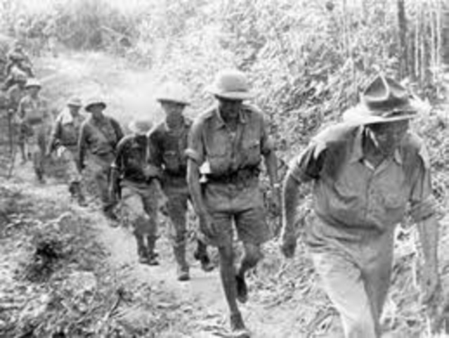 British soldiers entered Kenya