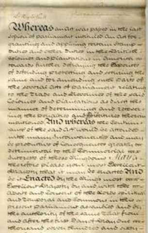Colonists Petition for Repeal of Stamp Act