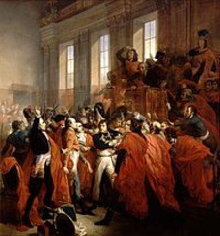 Napoleón Bonaparte da un golpe de estado