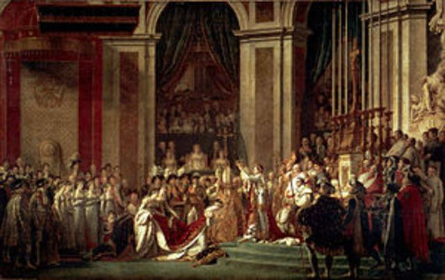La coronación de Napoleón Bonaparte