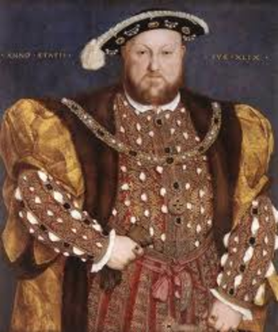 King Henry VIII begins Protestant Anglican Church