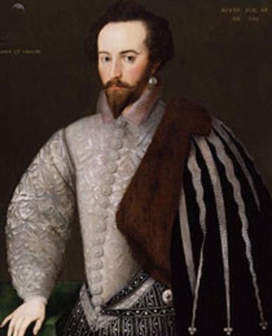 Sir Walter Raleigh tries to establish Roanoke