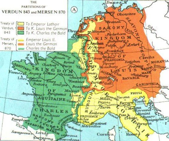 The Treaty of Verdun is created