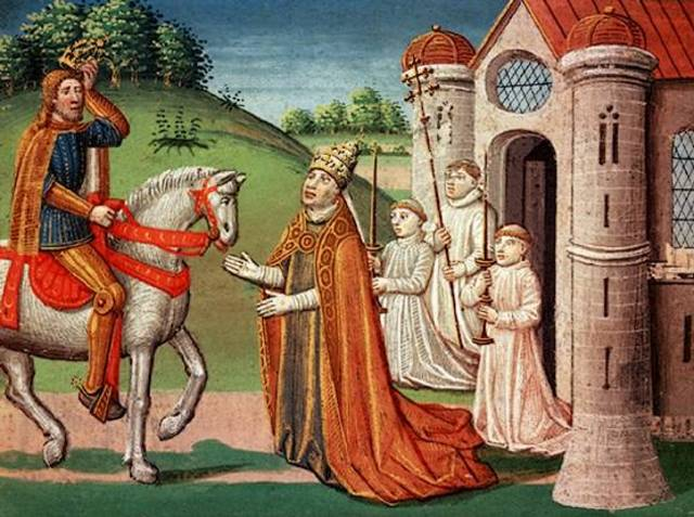 Charlemagne is Crowned King