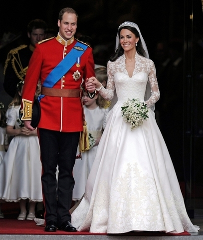 Prince William and Catherine married