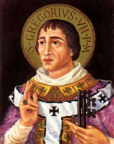 Hildebrand becomes Pope Gregory VII