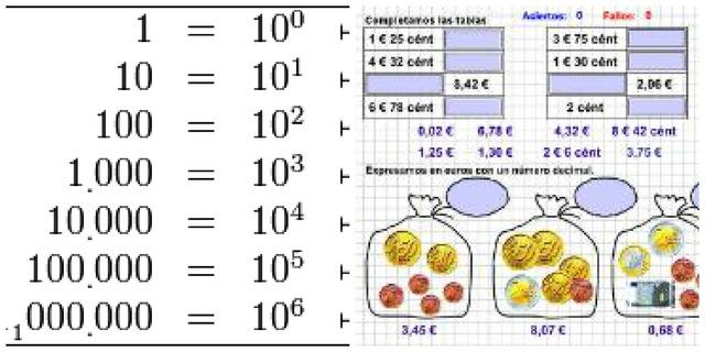 Temas de matematicas  6 años