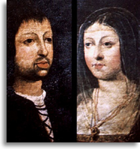 Ferdinand or Aragon and Isabella of Castile marry