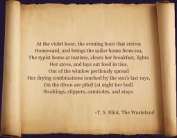 Exploration Ts Eliot Quotes Quotesgram: The Life Of T.S Eliot Timeline