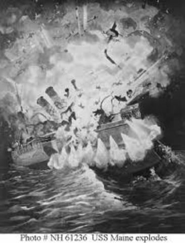 Explosion of the USS Maine