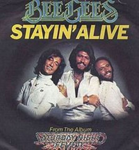 "disco""Stayin' Alive"" by the BeeGees"