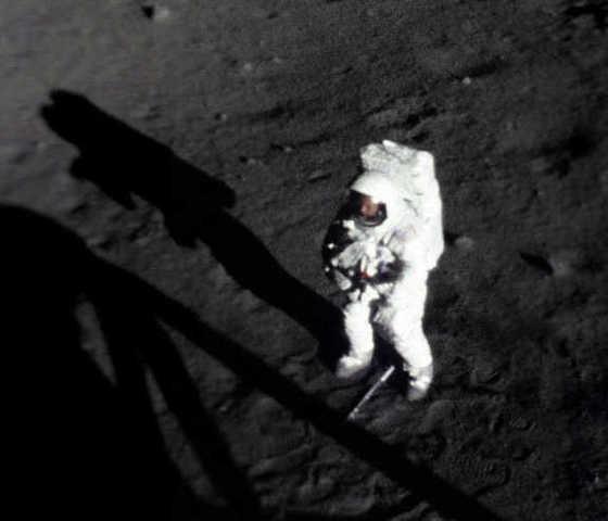 Man lands on moon