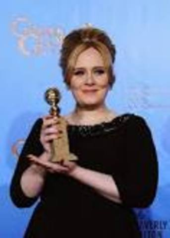 she has won the Globe Awards with Skyfall  song