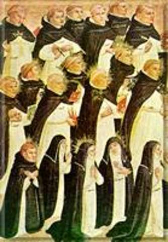 The Dominican friars are organized