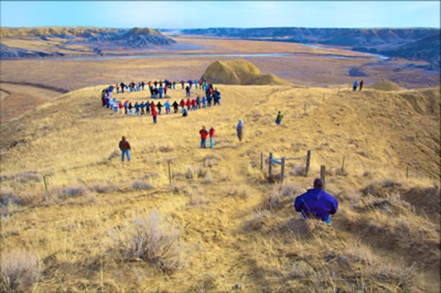 Blackfoot Round Dance during Activity Time