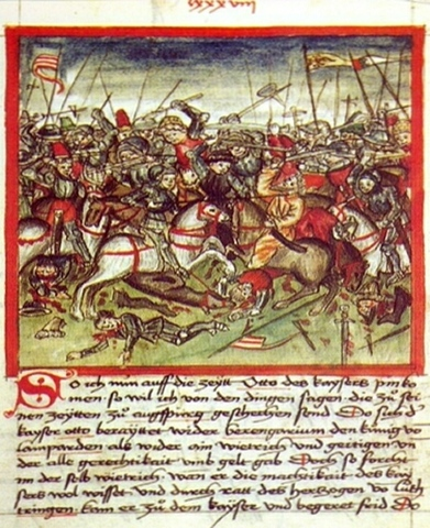 German King Otto defeats the Magyars at Lechfeld.