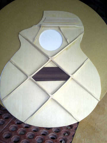 Frendrick Martin Created the X-braced guitar top to support the use of steel strings