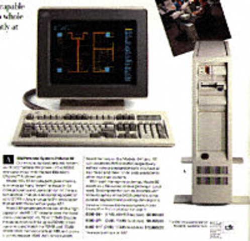 IBM introduced its PS/2 machines, which made the 3 1/2-inch floppy disk drive and video graphics array standard for IBM computers.