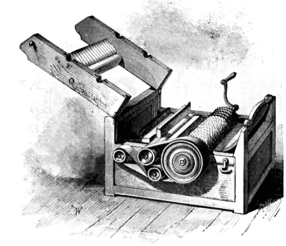 Eli Whitney invents Cotton Gin.