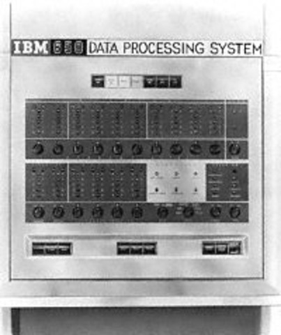 The IBM 650 magnetic drum calculator established itself as the first mass-produced computer