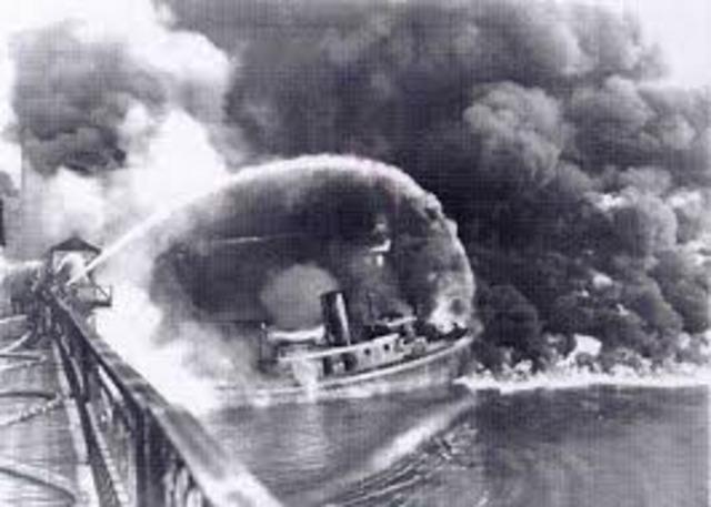 Cuyahoga River Burns
