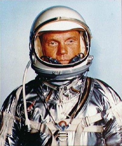 John Glenn orbits the earth 3 times