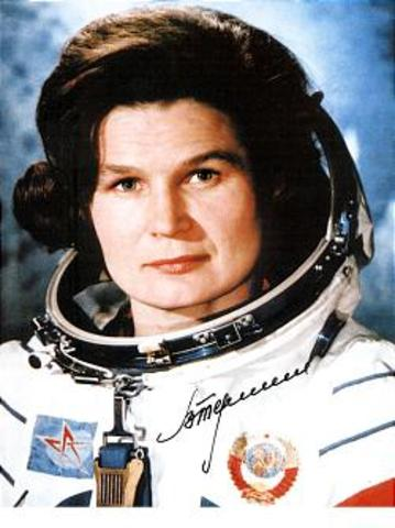 Cosmonaut Valentia Tereshkova becoems first woman to be launched into space
