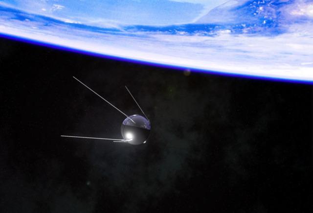 Soviet Union launches Sputnik I into space.