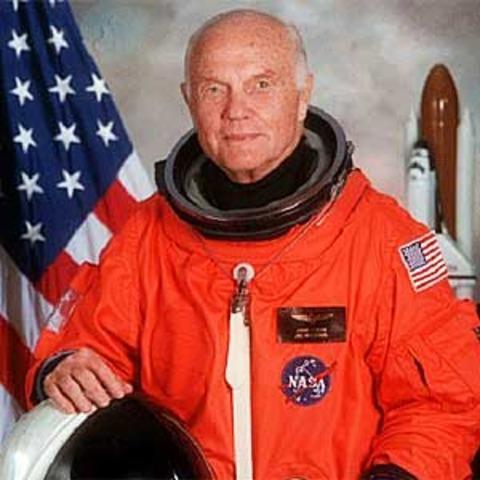 John Glenn first person to orbit Earth