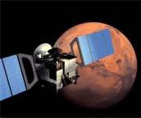 Satellite orbits another planet:Mars (USA)