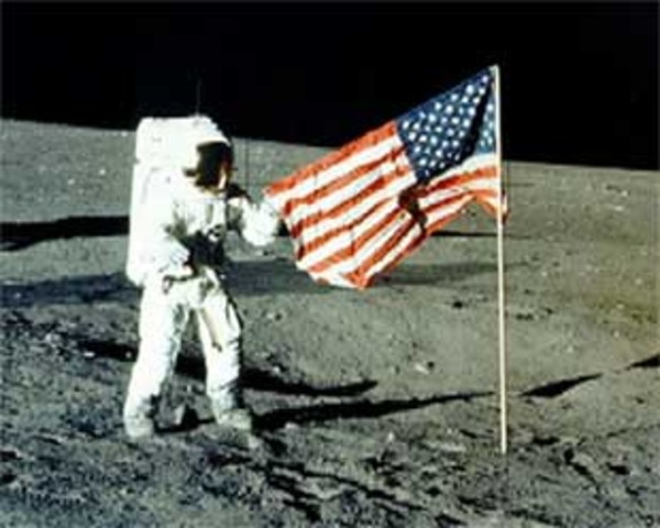 Americans Walk on the Moon