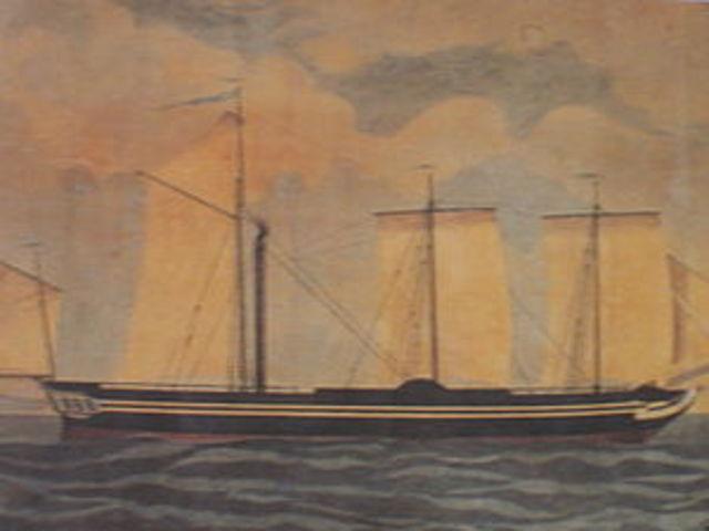 Το πρώτο ατμόπλοιο